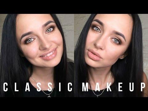 Классический макияж 2  |  затемнение уголка  |  как приклеить накладные пучки