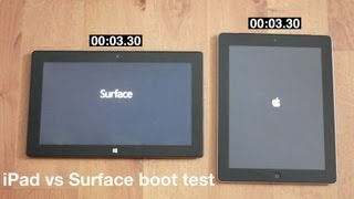 iPad 3 vs Surface Boot Speed Test