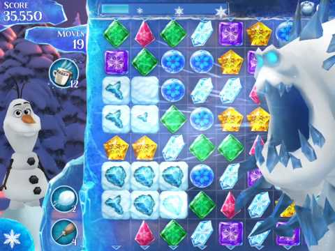 Frozen Free Fall Level 166 Live Action Play Walkthrough