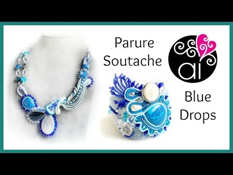 Soutache | Sutasz | Creazioni | Parure Blue Drops video