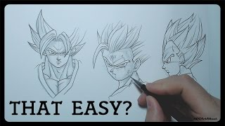 How to draw Dragonball Characters - EASY Tutorial