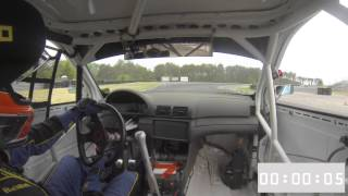Autocraft's BMW E46 Race Car at NJMP Thunderbolt NASA Qualifying May 2015