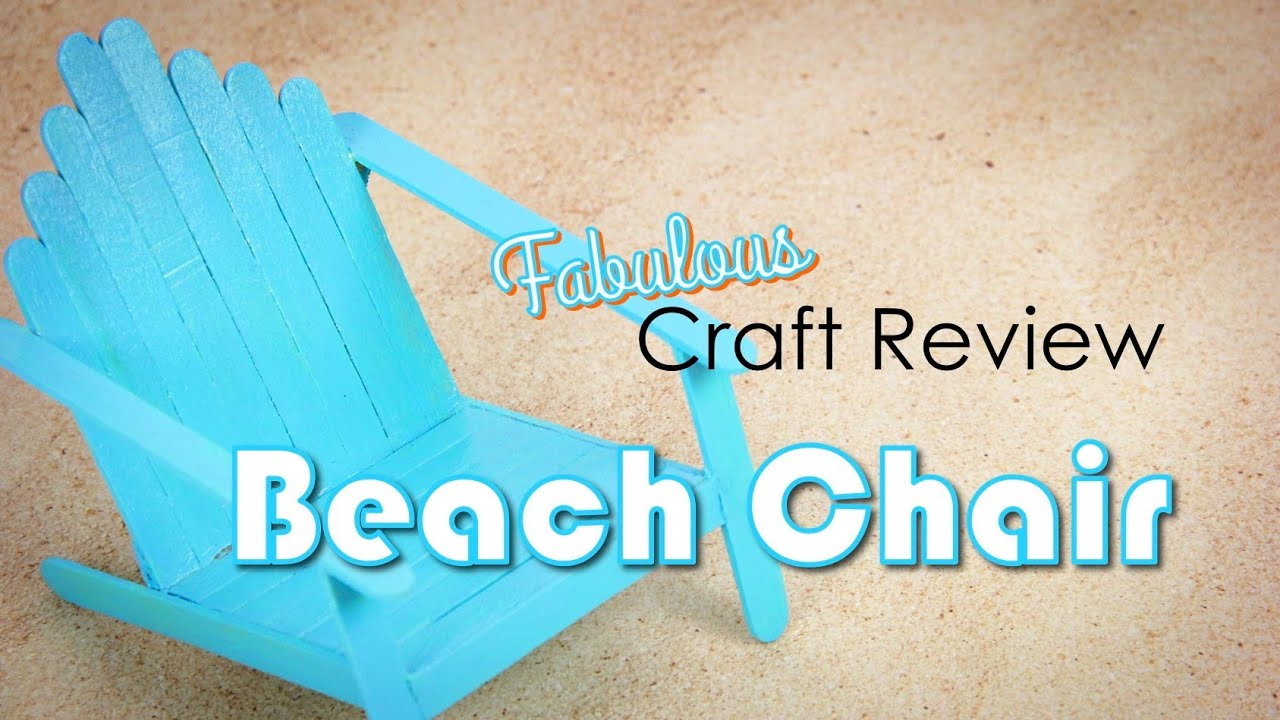Craft review beach chairs youtube for Create and craft tv reviews