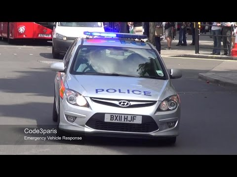 London Fire Pump A342 + Metropolitan Police Car