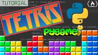 Python and Pygame Tutorial - Build Tetris! Full GameDev Course