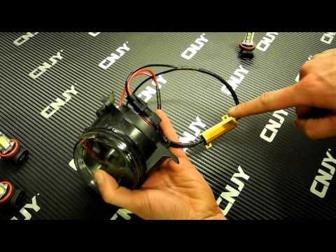 MONTAGE LED ANTI-BROUILLARD SUR AUDI A4 B8 2009 LED SMD HLU CREE ANTI ERREUR ODB ORDINATEUR DE BORD