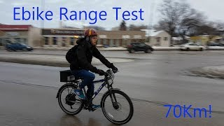 1500w Ebike Range/Speed Test - 70km!