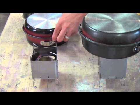Prototype Testing the NEW! Nano Ultralight Backpacking Wood-Burning Stove 5.6 oz by Folding Firebox
