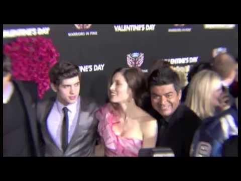 Valentine's Day Movie Premiere Celebrity Footage