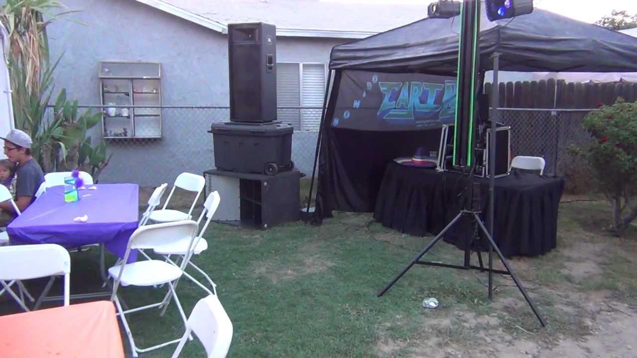 only 1  4 dj system setup   mobile dj speaker setup