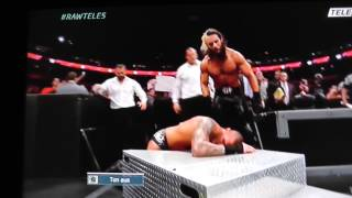 Funny Kane Moment: Kane takes a fall - Kane Fail WWE RAW November 2014