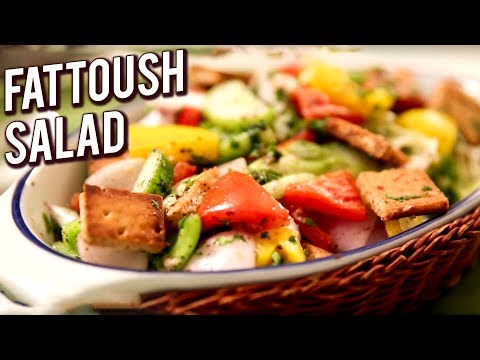 Fattoush Salad -Vegetable Salad With Pita Croutons - Healthy & Nutritious Salad Recipe - Ruchi