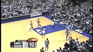 Duke Run Thrills Crazies vs UNC in 2000