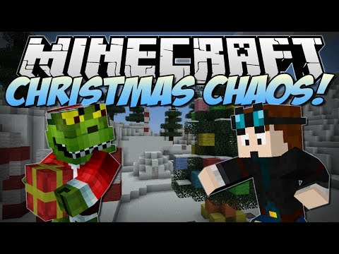 Minecraft CHRISTMAS CHAOS Help Santa and Save Christmas Minigame 1.7.4