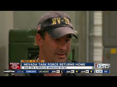 Nevada Task Force One returns home from Hurricane Florence rescue mission