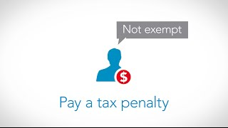 The Affordable Care Act Tax Penalty Explained (Obamacare) -- TurboTax Tax Tip Video