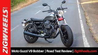 Moto Guzzi V9 Bobber | Road Test Review | ZigWheels.com