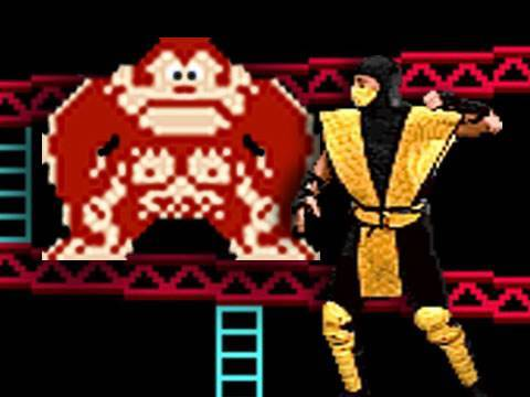 What if Scorpion of Mortal Kombat took Mario's place in Donkey Kong? WATCH MORE VIDEO GAME MASHUPS: http://www.youtube.com/view_play_list?p=8D6F7CC6F03A7E84 ...