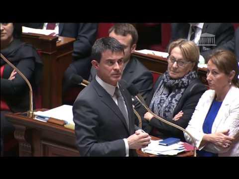 Question à Manuel Valls sur les attaques contre le Front National et ses candidats