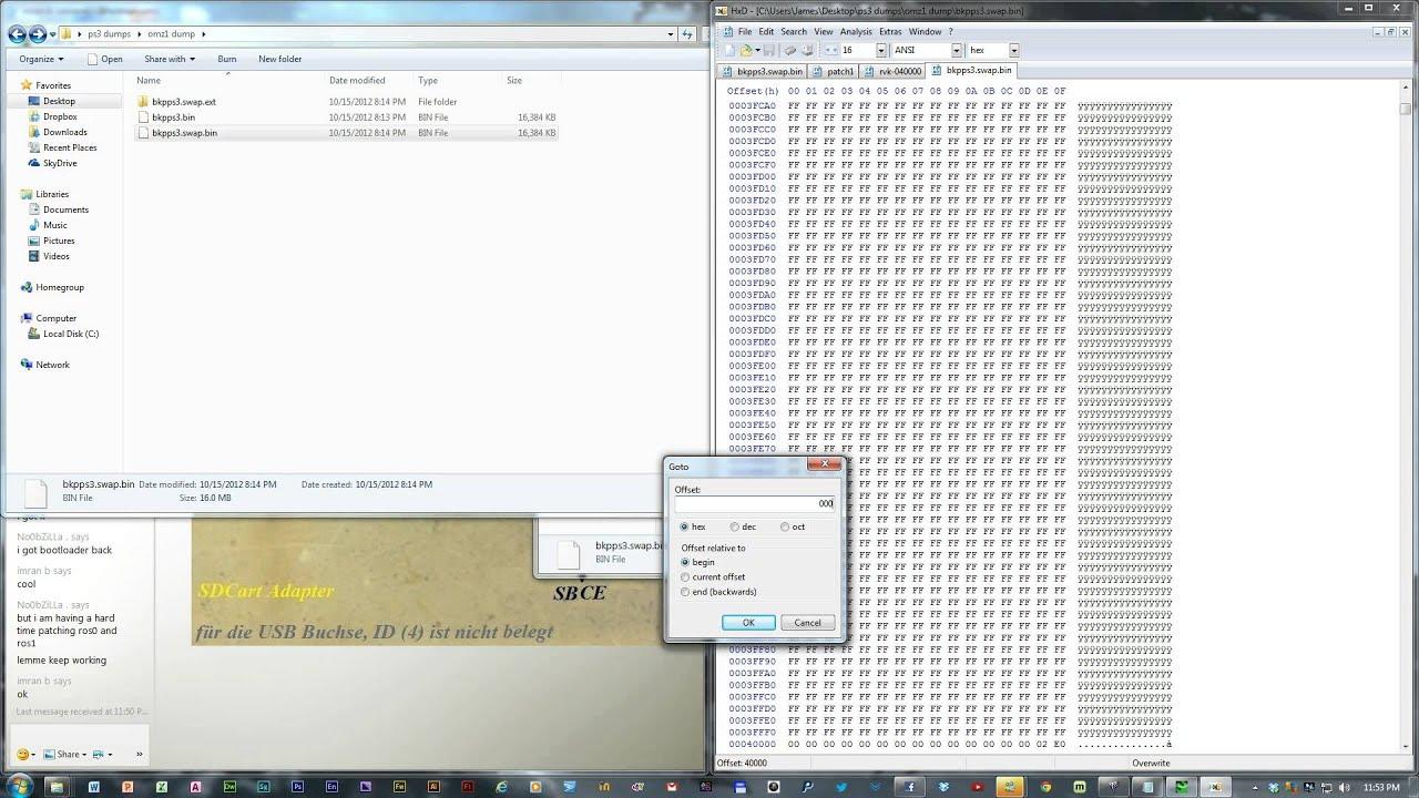 ps3 exploit bad dump.hex how to fix