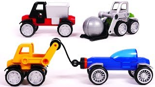 Dump Truck and Forklift Magnetic Toy Car Vehicles for Kids