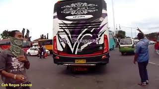 terdengar suara unik saat bus Haryanto Tatto Mundur kebelakang,mercy 1626 HDD