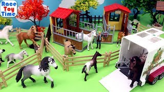 Schleich Horse Stall Playset - Fun Animals Toys For Kids