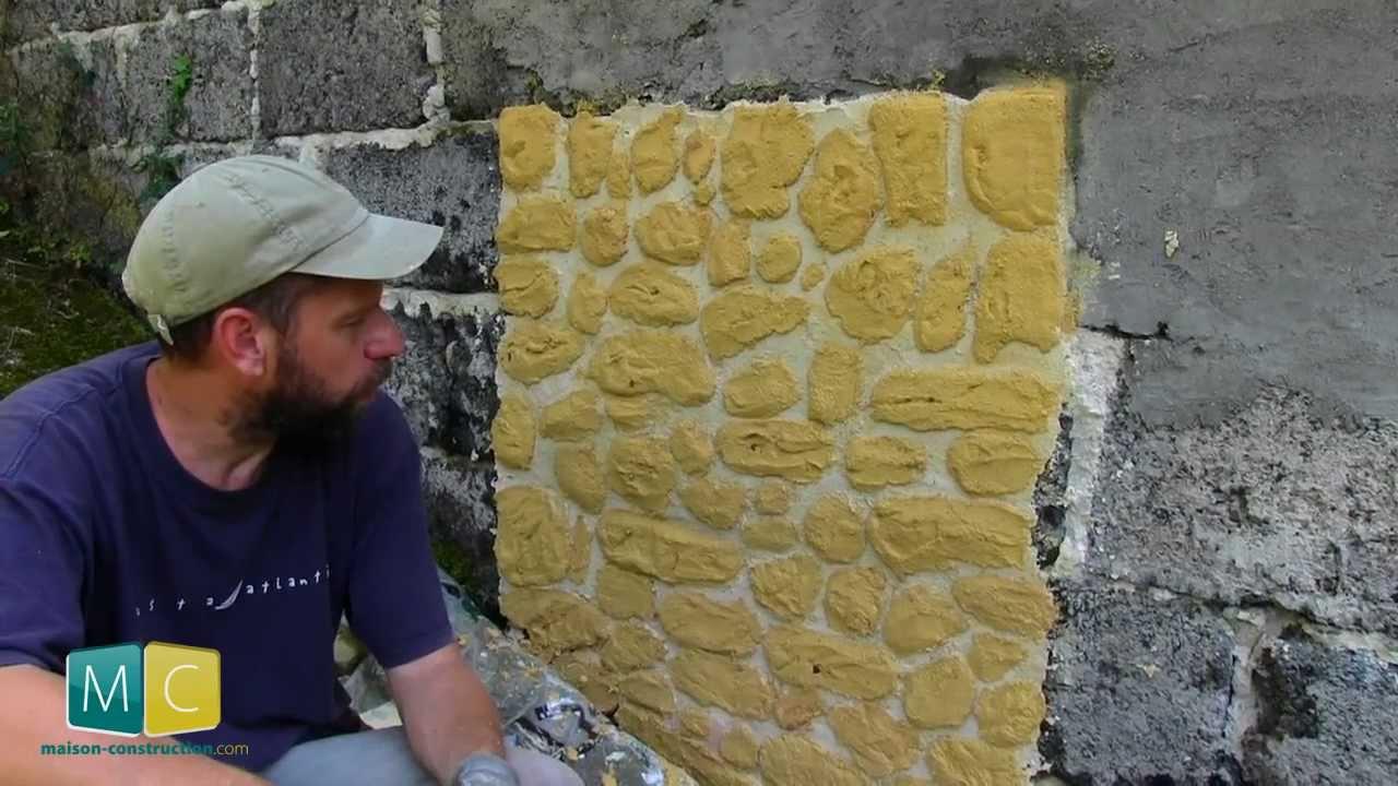 Enduit mural chaux faire des fausses pierres youtube for Fausse pierre interieur