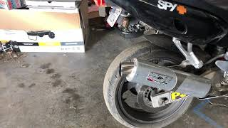 YZF600 streetbike with Vance Hance exhaust