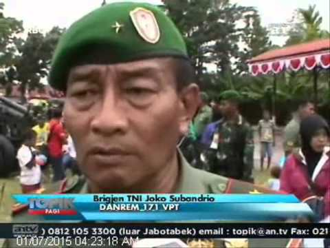 [ANTV] TOPIK, Warga Papua Barat Berebutan Naik Tank TNI Angkatan Darat