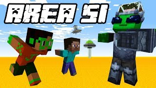 Storming Area 51 in Minecraft (RAID GONE WRONG)