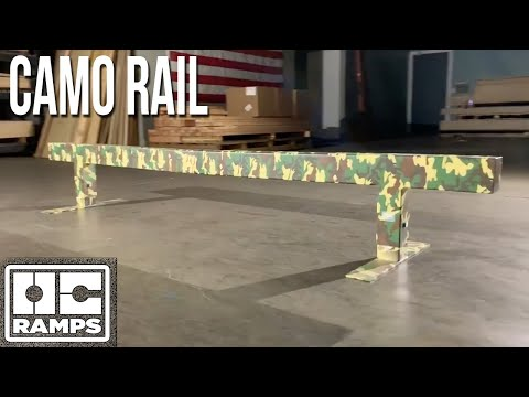 Camo Skateboard Rail by OC Ramps