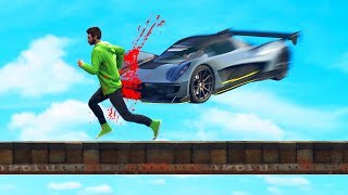 EXTREME MILE HIGH DEATHRUN! (GTA 5 Funny Moments)