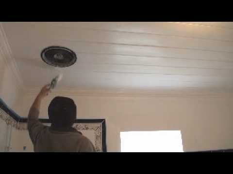 How to paint a timber match board ceiling part 2 the for Top rated ceiling paint
