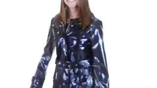 Ellen Tracy Outerwear Snap Front Trench Coat   Patent Faux Leather, Detachable Hood For Women