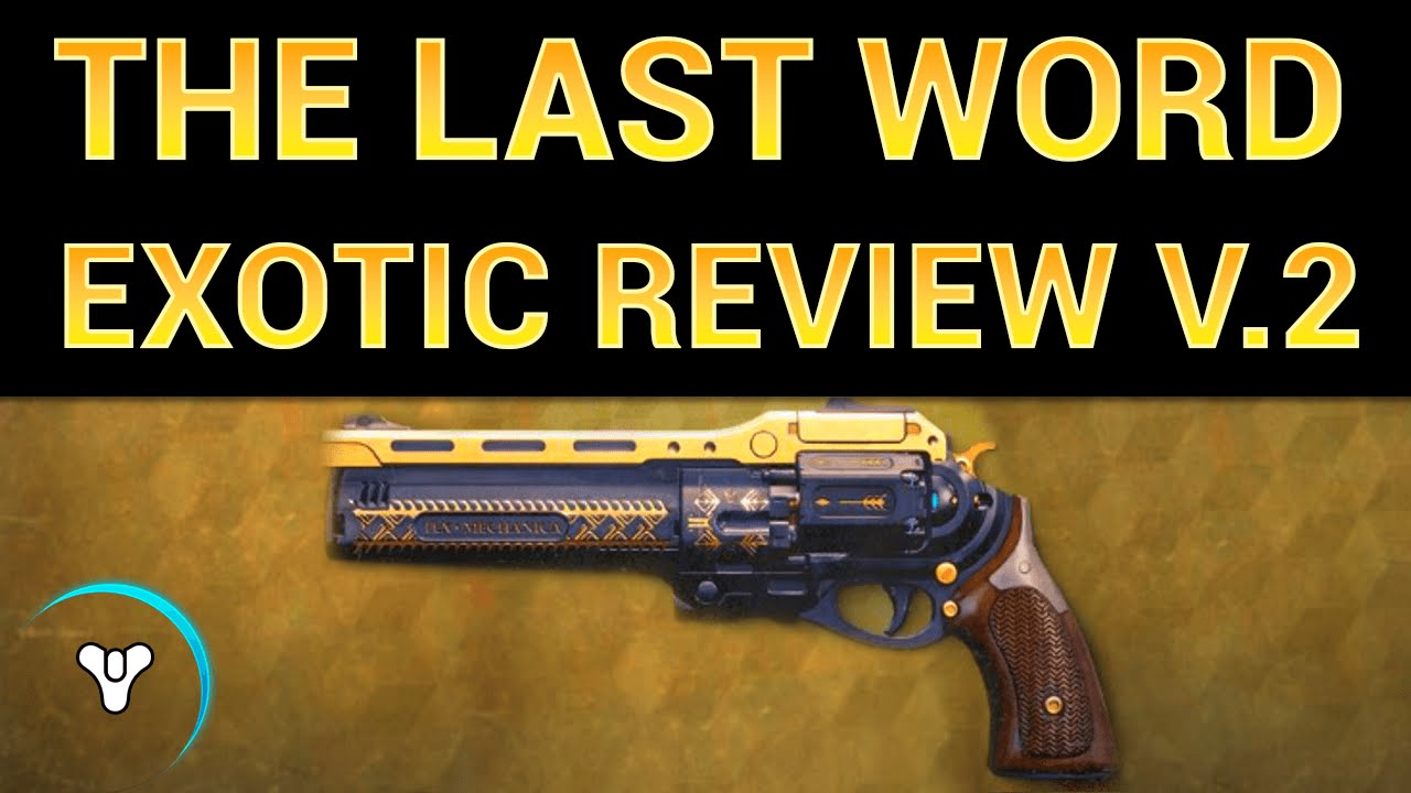 Planet Destiny: The Last Word Exotic Review v.2 - YouTube