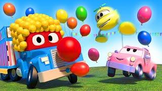 Video xe tải cho trẻ em - Chú hề tại bữa tiệc - Thành phố xe 🚗 những bộ phim hoạt hình về xe tải