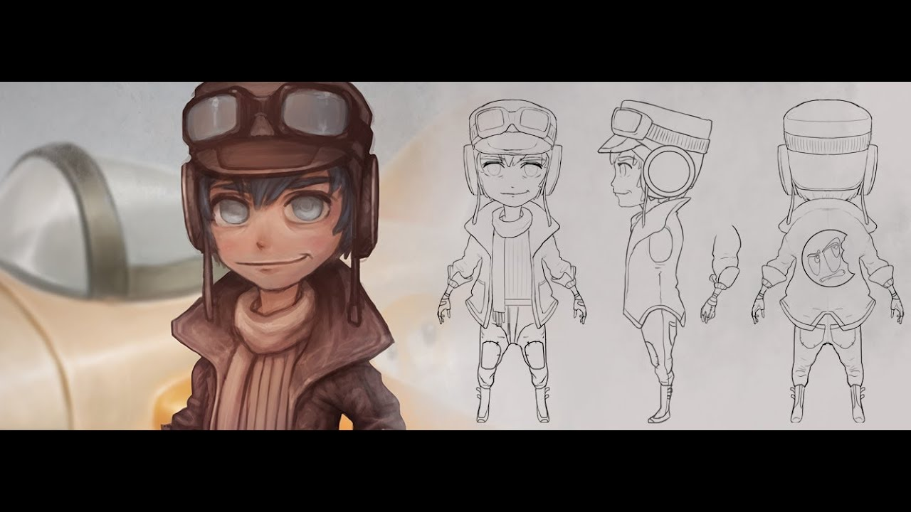 Blender Modeling A Cartoon Character : Creating a stylized character turnaround from concept