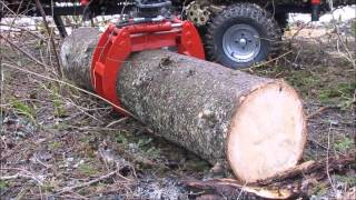 "ATV hydraulic timber trailer  ""FORESTER 3400"""