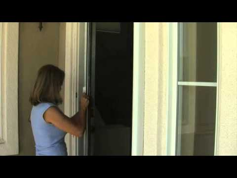 Measuring and installing retractable screen doors and roll for Roll away retractable screen doors