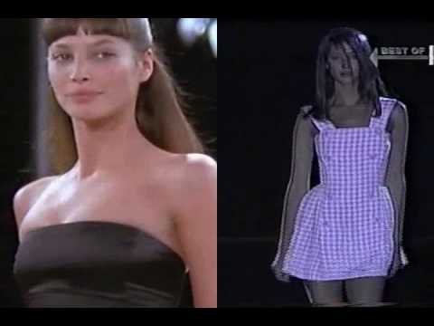 Christy Turlington on the Catwalk