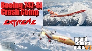 GTA 6: Graphics REDUX Ultra Graphics Boeing 747-8i Plane Crash Compilation