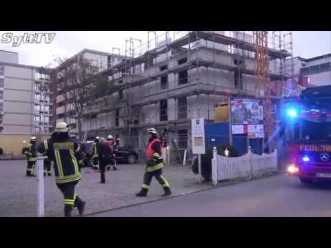 Feuerwehreinsatz in Westerland auf Sylt