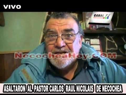 ASALTARON  AL  PASTOR CARLOS  RAUL NICOLAIS   DE NECOCHEA
