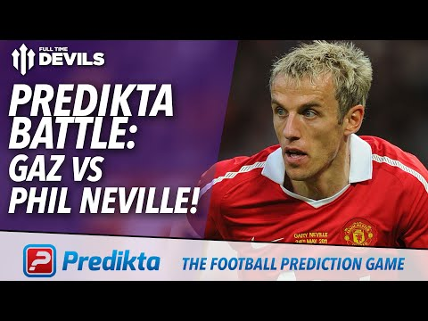 Manchester United Predikta Battle! | Gaz vs Phil Neville | Manchester United vs Aston Villa