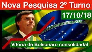 Nova Pesquisa Presidente 2º Turno: Bolsonaro consolidado para vencer a Eleição!