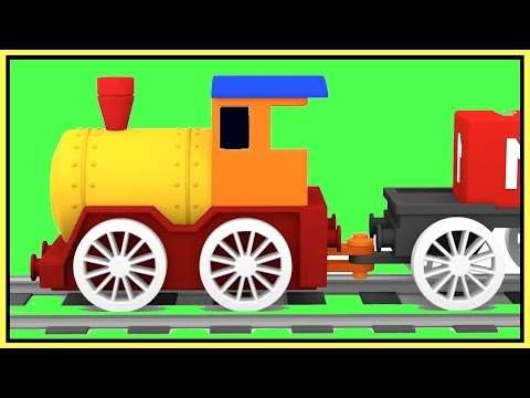 ⭐︎ MAGIC TRAIN Construction Demo! ⭐︎ Learn Colors - Kids Cartoons Cars video xe tải lớn/큰 트럭 农行
