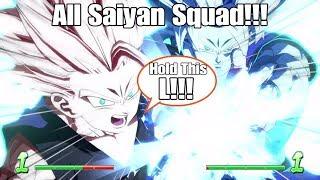 Ki Super Clashes? Dragon ball FighterZ Beta Sweet Revenge! Full Saiyan Team Gameplay