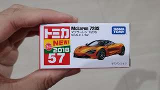 Unboxing Takara Tomy Tomica No. 57 (2018) McLaren 720S One of Top 10 Cars On Nürburgring Track