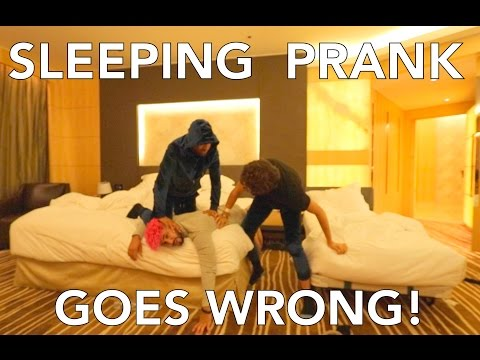 SLEEPING PRANK GOES WRONG!!!